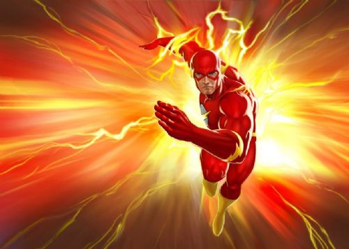 THE FLASH - SPEED RUN 2 canvas print - self adhesive poster - photo print